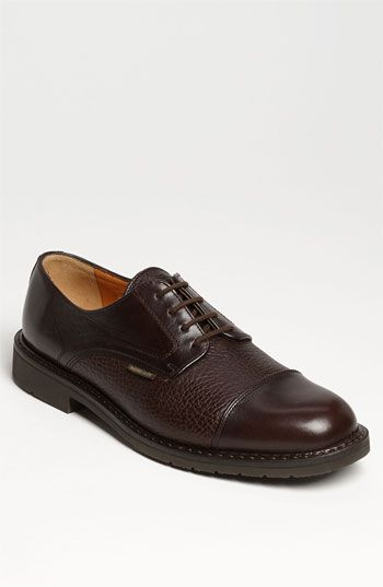 $415, Dark Brown Leather Derby Shoes: Mephisto Melchior Cap Toe Derby Dark Brown 8 M. Sold by Nordstrom. Click for more info: https://lookastic.com/men/shop_items/153181/redirect