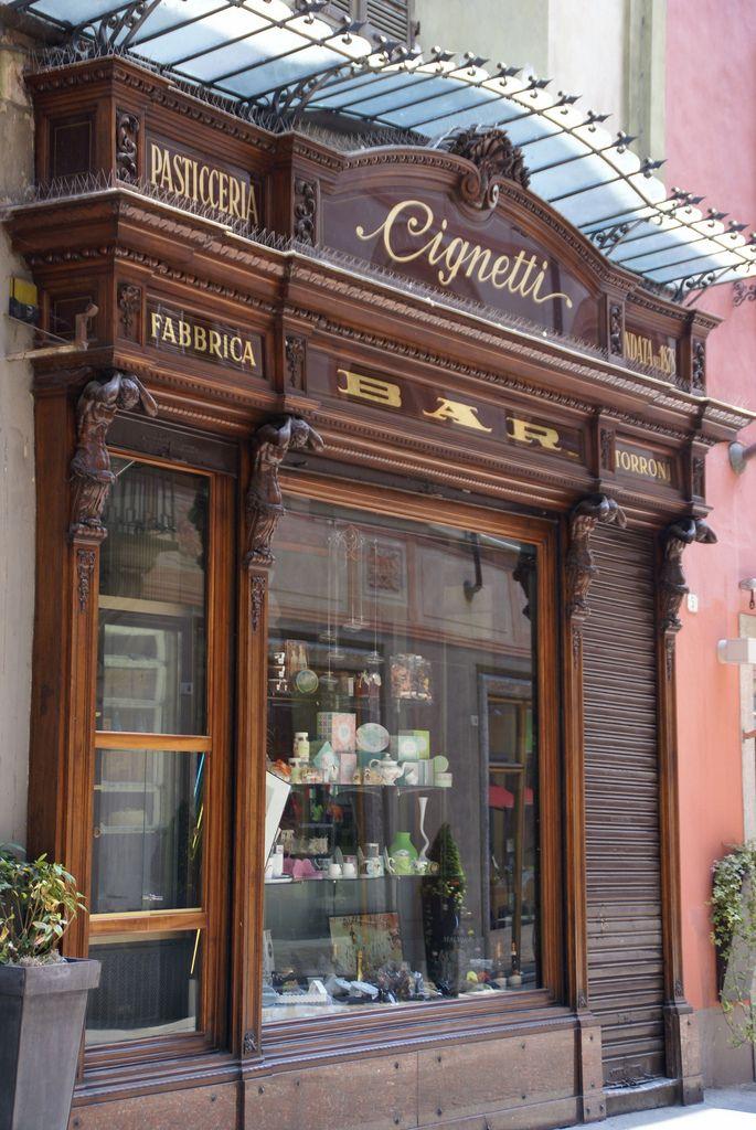 Alba, Via Vittorio Emanuele II., Pasticceria (pastry shop), Alba, Piedmont, Italy