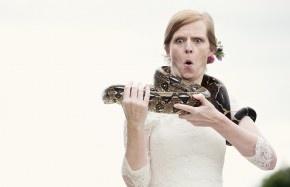 Snake on Glasshouse Roof Garden Wedding