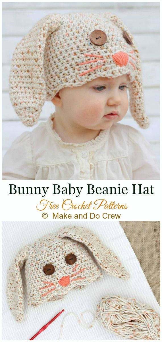 Bunny Baby Hat Crochet Free Pattern – #Crochet; #Beanie; Hat Free Patterns