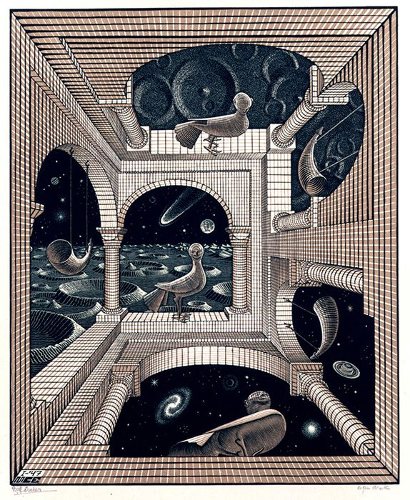 エッシャー ダリ 福田繁雄 だまし絵の世界を紹介する 夢幻 無限 展 アートのアイデア アートプリント mcエッシャー
