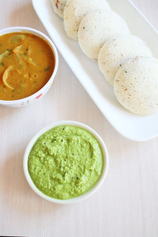 Coconut Coriander Chutney Recipe for idli, dosa, vada