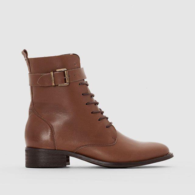 Boots à lacets en cuir R essentiel