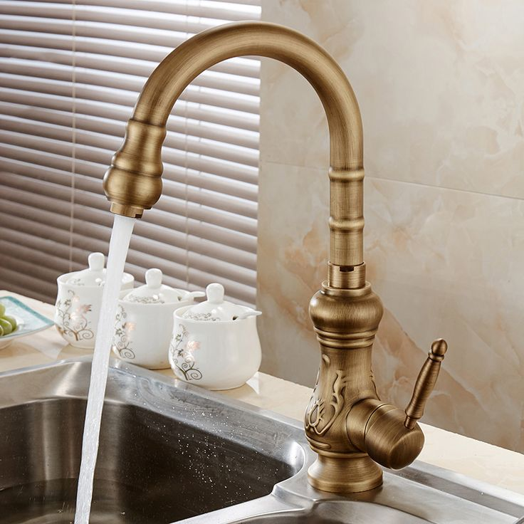 $52.30 | Buy Antique Brass Kitchen Faucet Bronze Finish Kitchen Faucet  Ideas | Kitchen Faucet Design