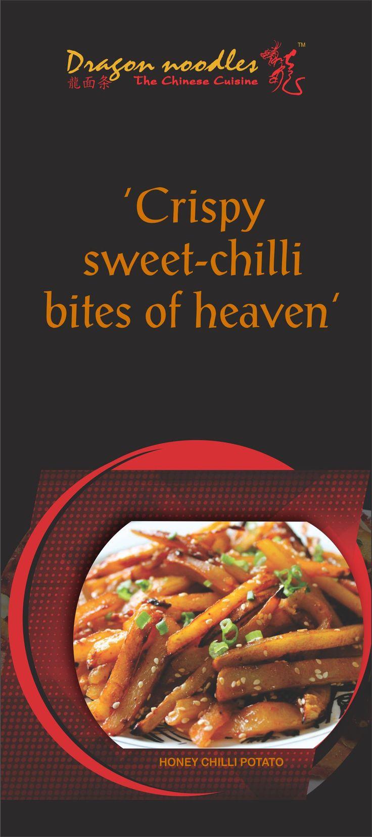 Thinking about Honey Chilli Potatoes? So are we! #DragonNoodles #Chinese #Food #foodies #vaishali #indirapuram #HoneyChilliPotatoes