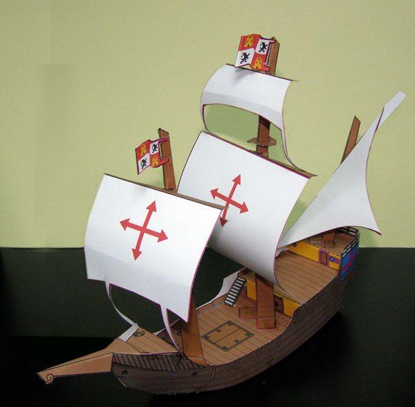 Carabela de Colón • Diseño de armable para proyecto «Guardianes de la historia de Venezuela» de Fundación Empresas Polar