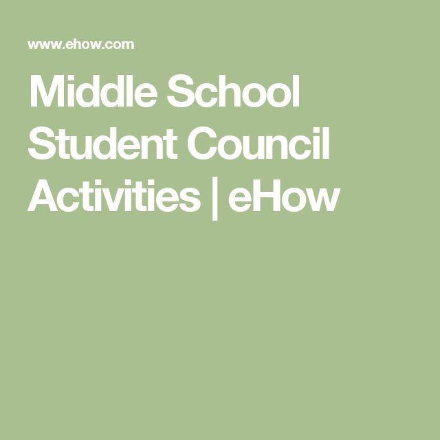 Middle School Student Council Activities | eHow                                                                                                                                                                                 More