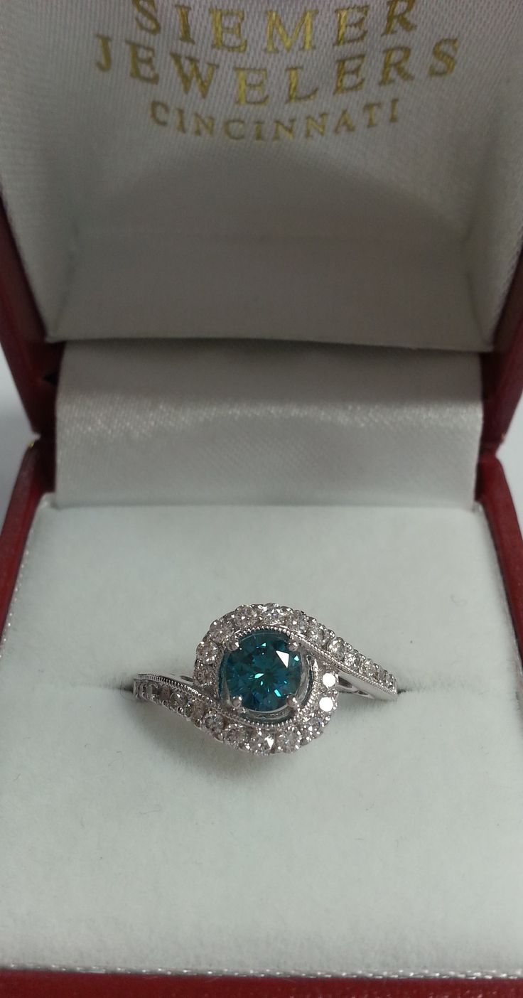 Blue Diamond Ring Colored