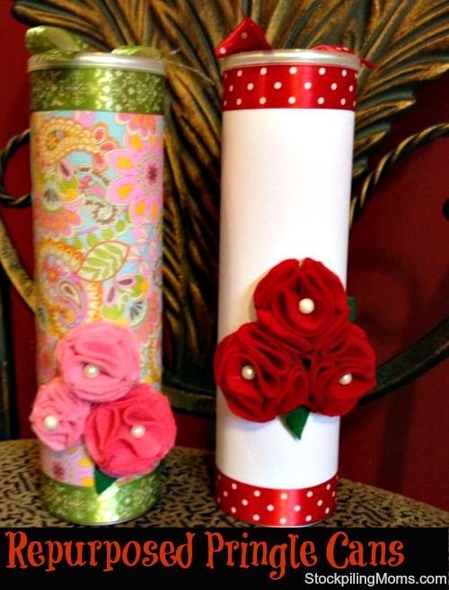 Repurposed Pringle Cans - Great Gift Giving Idea - Fill With Goodies!