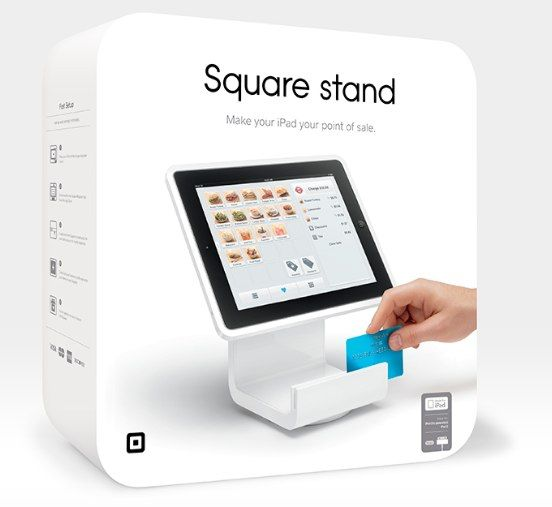 Square register stand