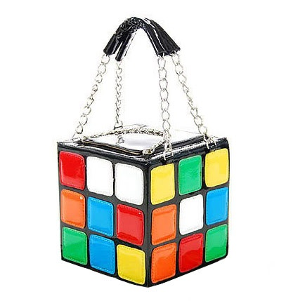 Rubix cube purse