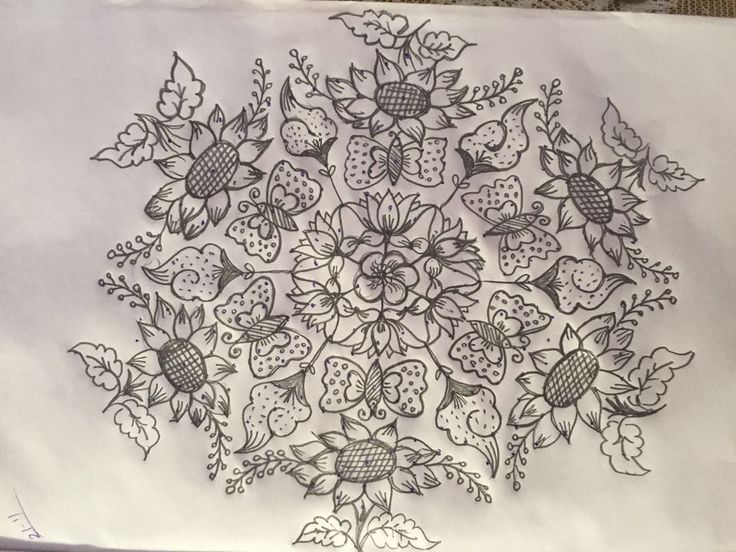 21 to 11 interlaced dotted flowers rangoli...