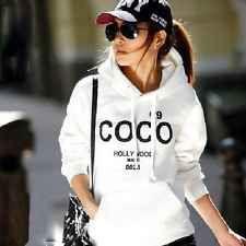 Casual Womens Hoodie COCO Print Coat Jacket Sweatshirt Outerwear Tracksuit Tops