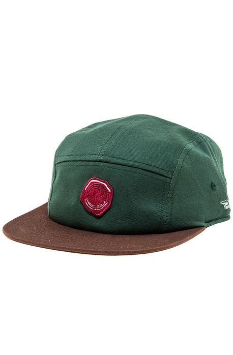 Steez Magazine The Wax Seal 5 Panel Hat in Hunter