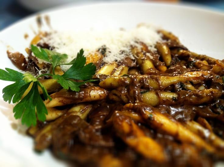 bay bolete with pasta  podgrzybki z makaronem