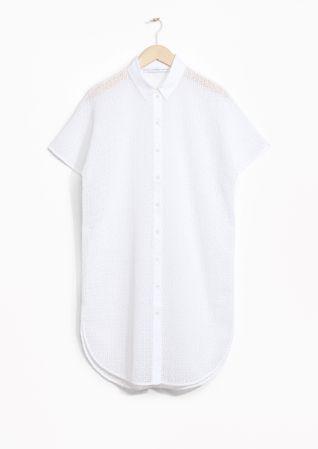 & Other Stories   Openwork Shirt Dress
