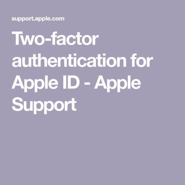 Twofactor authentication for Apple ID Apple support