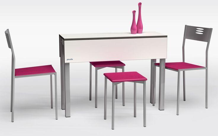 #mesas y #sillas modernas para #cocinas #diseño de cocinas. #linea 3 cocinas #Madrid #casasmodernasestrechas