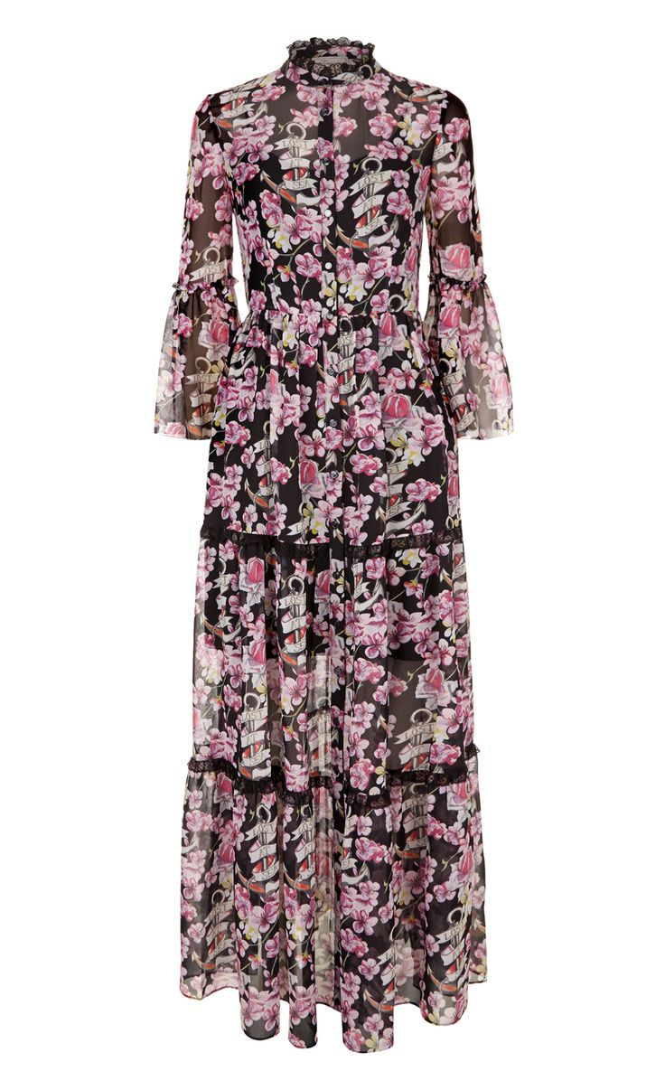 Temperley London Winter '16 Long Captain Print Dress