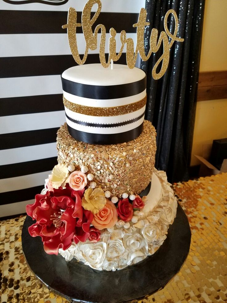 Glitz and glamour 30th birthday cake! 40th birthday