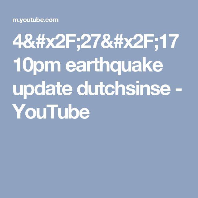 4/27/17 10pm earthquake update dutchsinse - YouTube