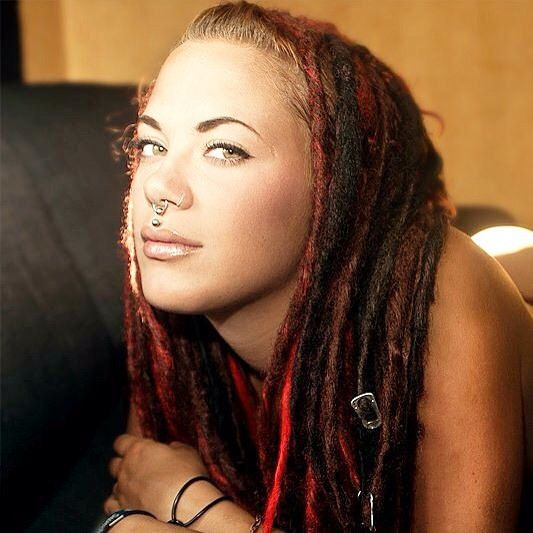 https://flic.kr/p/vwDBRZ | Beautiful girl with dreadful dreadlocks. This is a dark reddish set of double ended (de) dreads extensions. Visit our online shop for your own synthetic dreads. #staydreadful Link in bio  #dreadlocks #dreadsextensions #