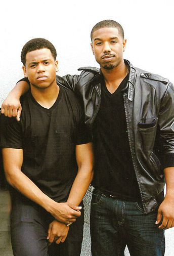 Words can't describe how much I love this picture. Tristan/Mack Wilds  Michael B. Jordan