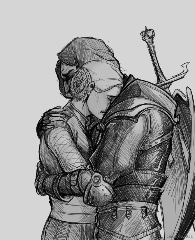 DAO: Loghain and Anora by caiterhe.deviantart.com on @deviantART