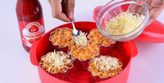 Bekal Anak Sehat: Roti Kukus Daging Wortel Saus Tomat