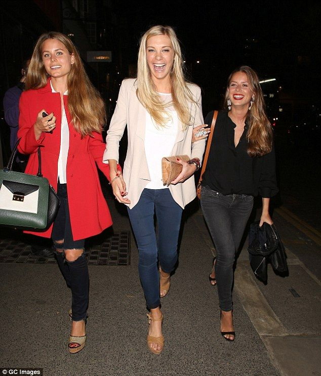 Jolly at The Ivy: Prince Harry's ex-girlfriend Chelsy Davy joined Irene and Lydia Forte at...