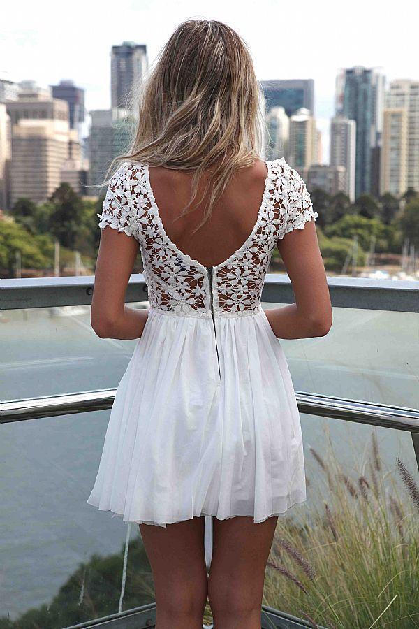 vestido espalda blanco