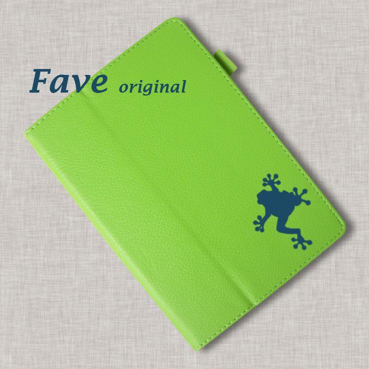 【送料無料】【名入れ対応】今、人気のオシャレな手帳型レザータイプ。 。iPadケース (カエル) 手帳型 オリジナル 送料無料 蛙 かえる 水族館シリーズ 動物 アニマル グリーン iPad Air Air2 mini mini2 mini3 mini4
