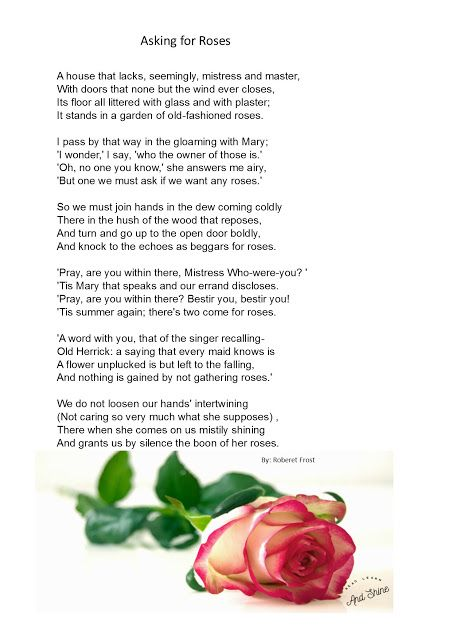 Read, Learn, and Shine: Asking for roses