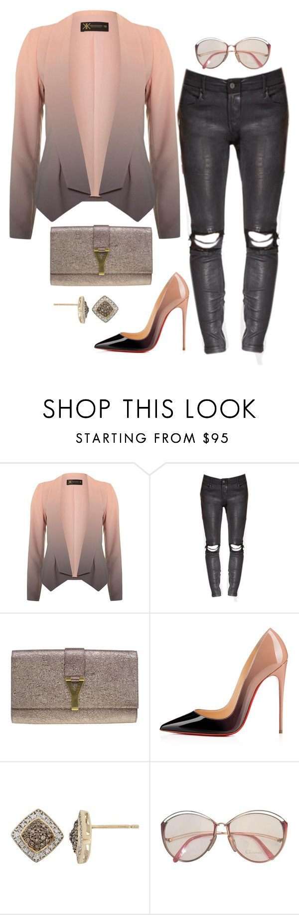 """""""The Ombré Effect"""" by fashionkill21 ❤ liked on Polyvore featuring Dorothy Perkins, Yves Saint Laurent, Christian Louboutin, YellOra and Christian Dior"""