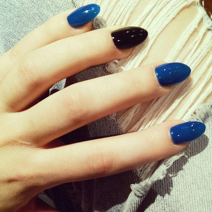Origin nails #gonsw #footy #nrl #nailart