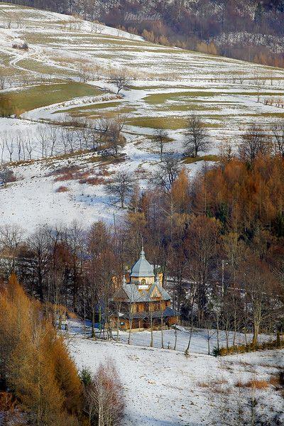 Cerkiew w Chmielu przedwiośnie 2012 Bieszczady ©Mateusz Matysiak