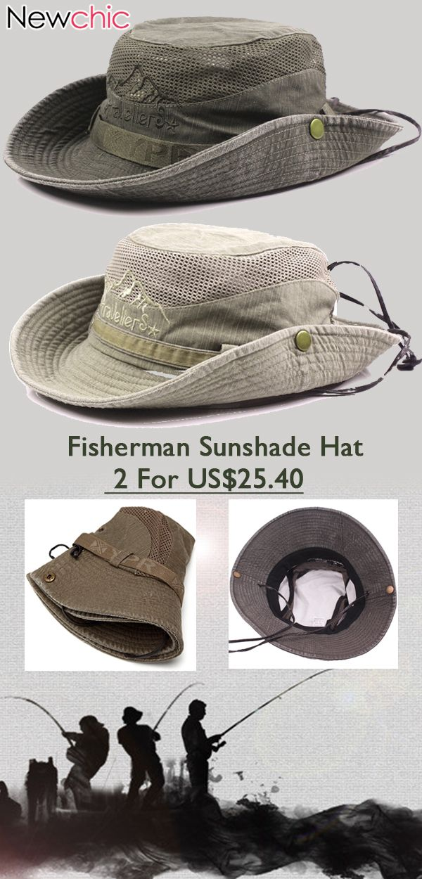 2ff1a57f0c8 Cotton Embroidery Visor Bucket Fisherman Outdoor Climbing Mesh Sunshade Hat