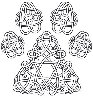 Celtic Knotwork Pawprint Dress Up Creations For Cats And Dogs With This
