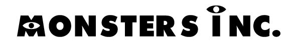 Monsters Inc. Font