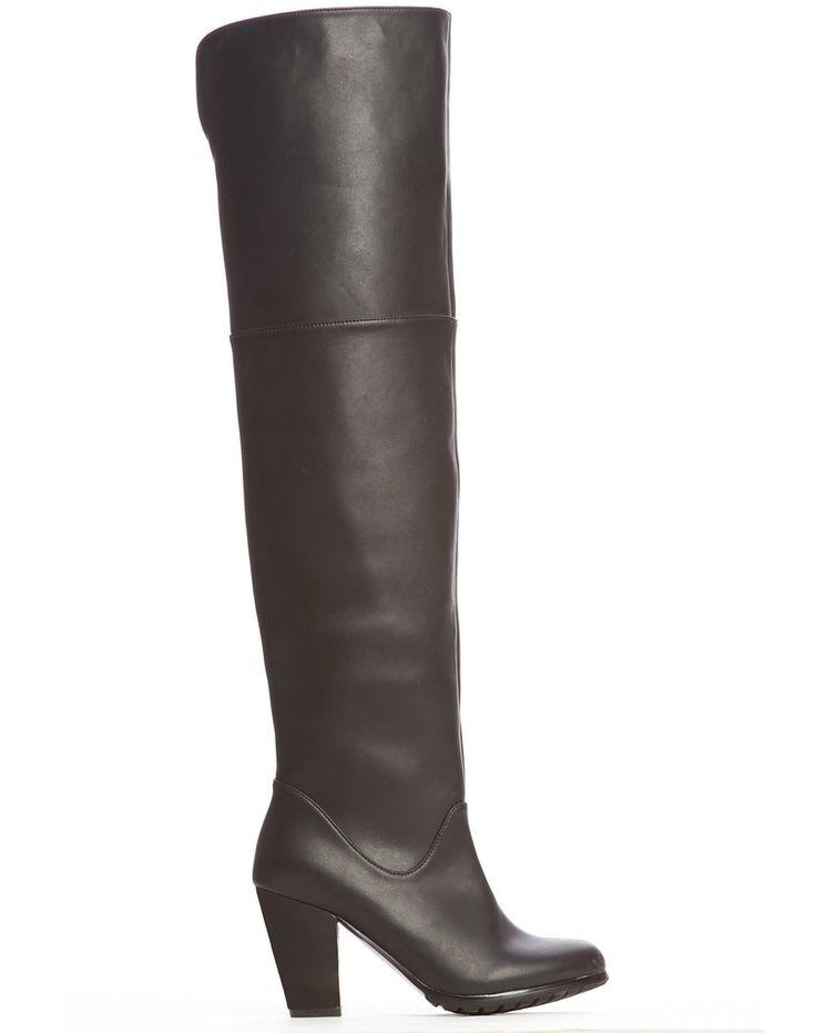 Jaden Over-Knee Boot - Black $180 Cri de Coeur
