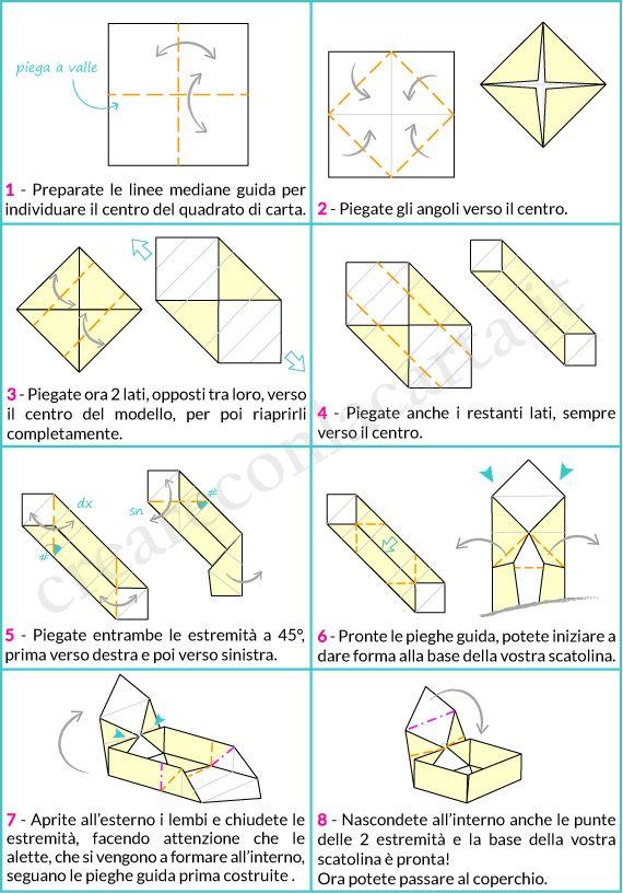 origami scatolo con coperchio parte 1