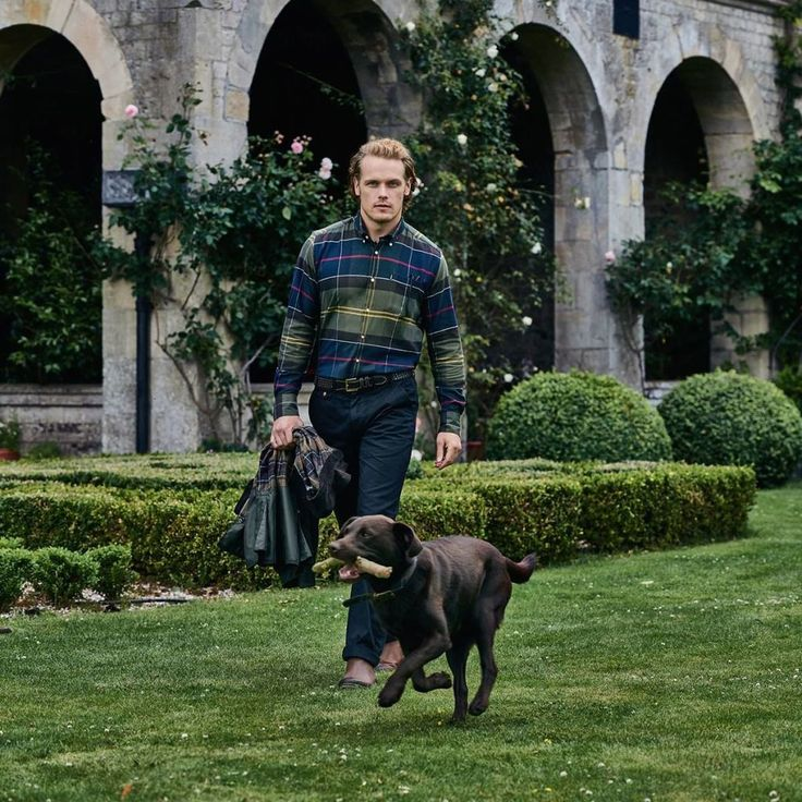 Barbour Releases New Photos of Sam Heughan's Campaign. Town&Country magazine.
