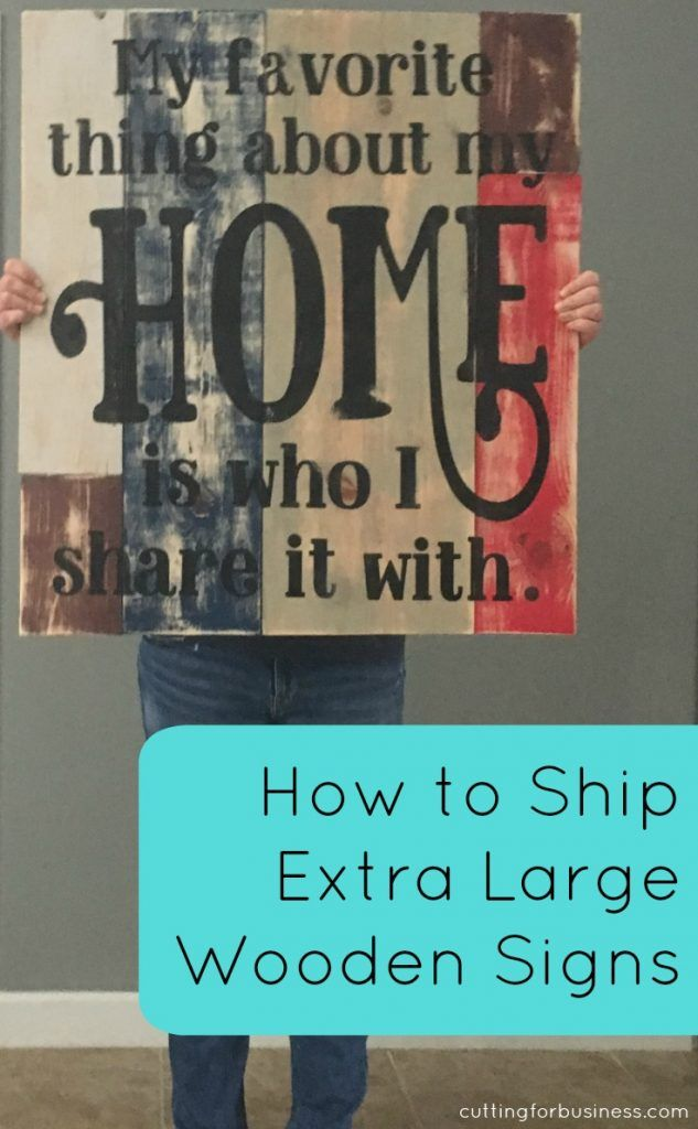 How to Ship Extra Large Signs made with your Silhouette Cameo or Cricut Explore - by cuttingforbusiness.com