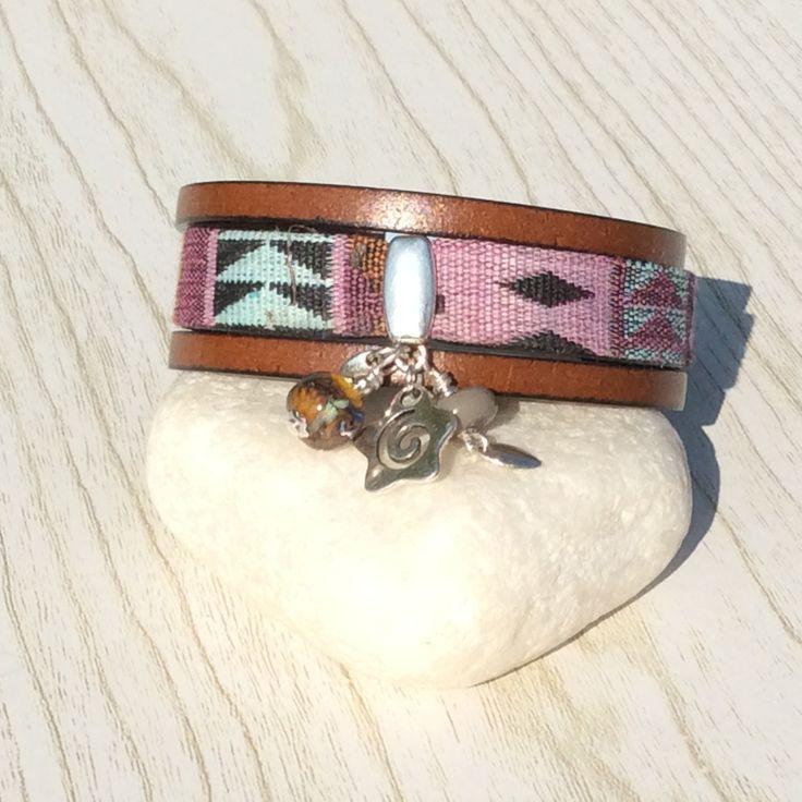 fr_bracelet_ethnique_19cm_avec_perles_de_verre_file_au_chalumeau_ambre_multicolore_gris_