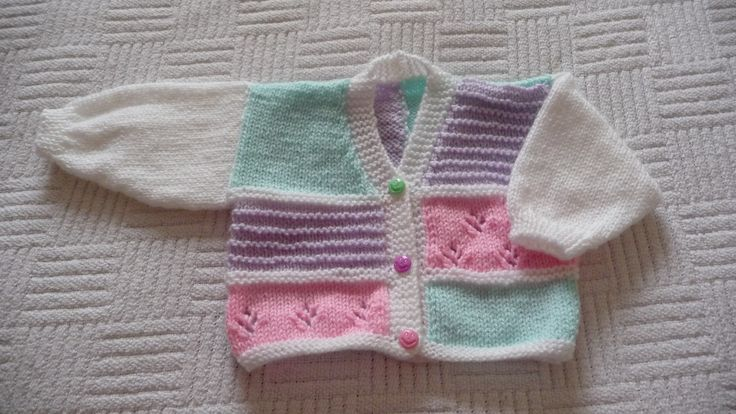 Colour change 3. I have knitted this cardigan in many different colours. Can't make up my mind which I prefer!