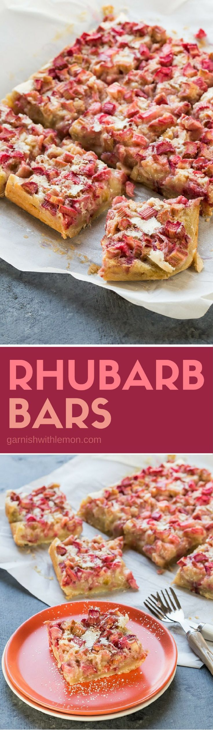 Rhubarb lovers unite! Spring is here in full force, and that means my rhubarb is coming in strong. These Easy Rhubarb Bars are the perfect way to let the tangy flavor shine through in all its glory.