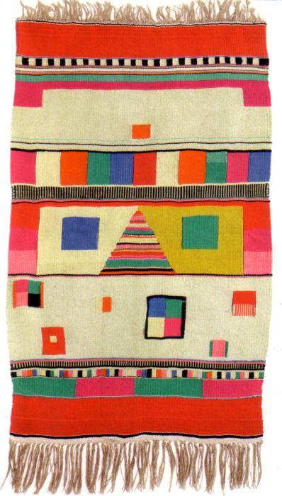 Max Peiffer Watenphul  Slit Tapestry, 1922  Hemp (warp) and wool (woof), 137 x 76 cm | T 1  Bauhaus-Archiv, Museum für Gestaltung, Berlin: Pattern, Color, Bauhaus Textiles, Art, Rugs, Weaving