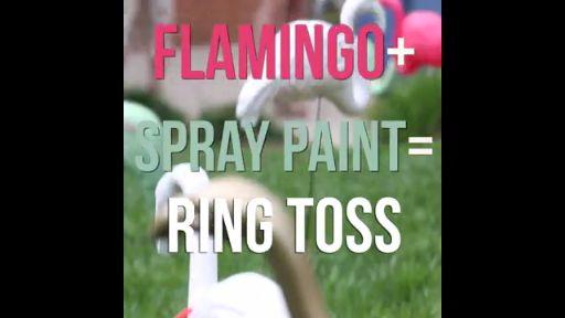 DIY Flamingo Ring Toss                                                                                                                                                                                 More