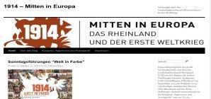 """Die Themenseite """"1914   Mitten in Europa   Das Rheinland und der erste Weltkrieg """"."""
