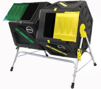 Miracle-Gro Dual Chamber 37 Gallon Tumbling Composter - M51798